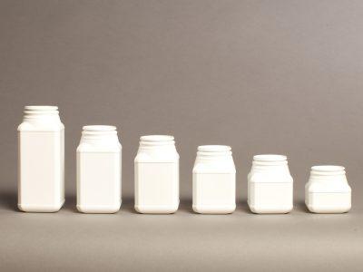Pharma Square pharmaceutical plastic container jar bottle