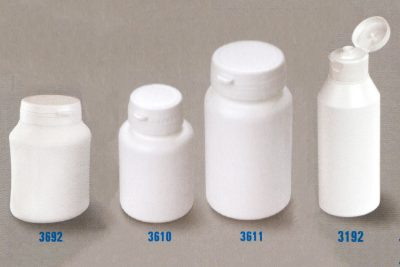 Pharma tablet and creme pharmaceutical container jars
